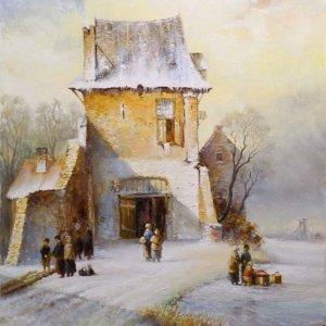 Первый снег в Голландии