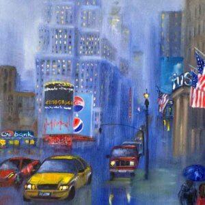 Дождливый вечер в Нью-Йорке