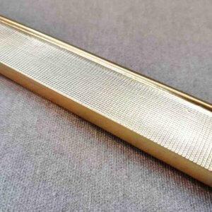 Багет прямоугольный золотистый     (35 мм)